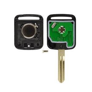 Бесплатная доставка (1 шт.) отличное качество 2 кнопки дистанционного передатчика брелок 2 кнопки 433 МГц ID46 для Nissan X-trail Navara Micr