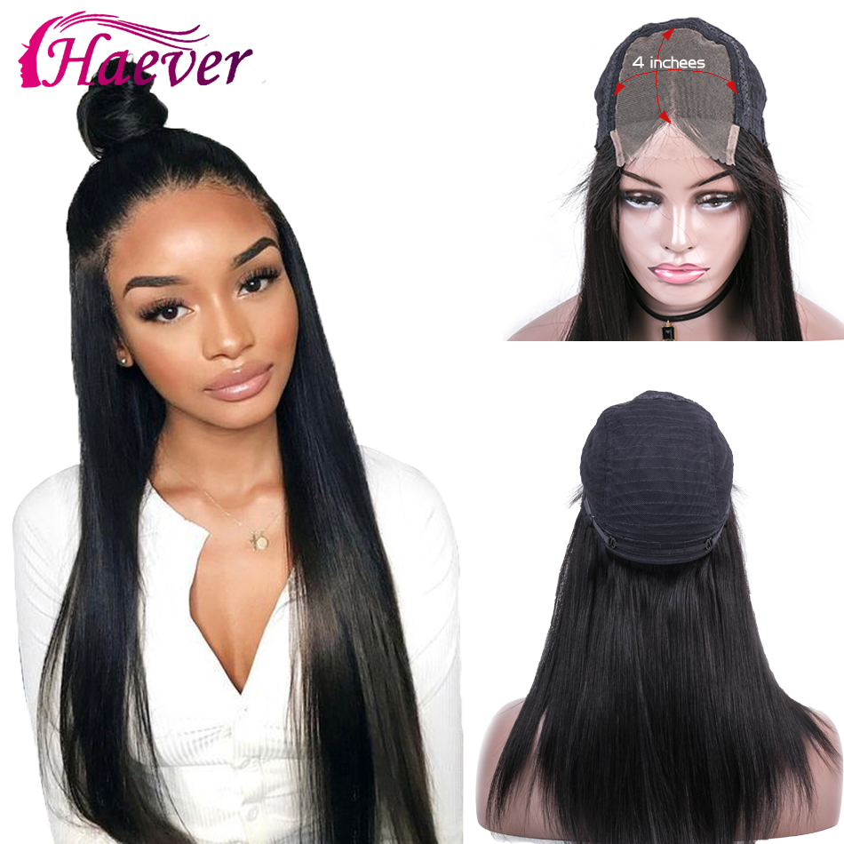4x4 Closure Wig Lace Closure Wig Straight Lace Front Wig 150% Remy 28 Inch Lace Wig Brazilian Human Hair Wig Closure Wig
