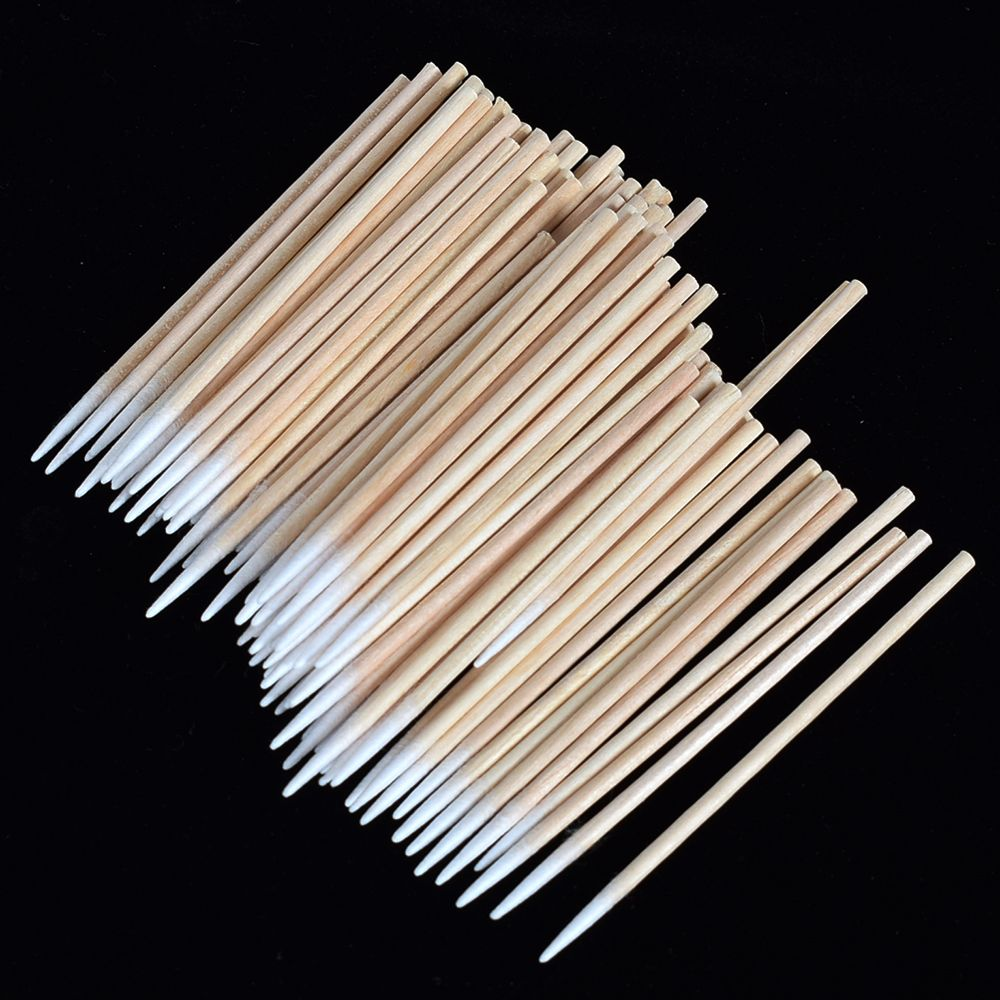 100 Pcs Disposable Ultra-small Brushes Swab Lint Free Micro Brushes Eyelash Extension Tool Lash Glue Removing Tool