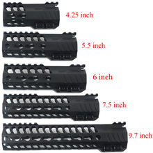 Tactical keymod 4.25/5.5/6/7.5/9.7 Polegada handguard fino livre float slr handguards AR-15 m4 rifle scope montar