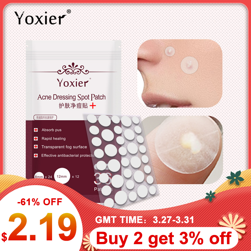 New 36pcs Skin Care Tools Acne Dressing Spot Patch Blemish Treatment Invisible Acne Stickers Pimple Remover Set Face Cream