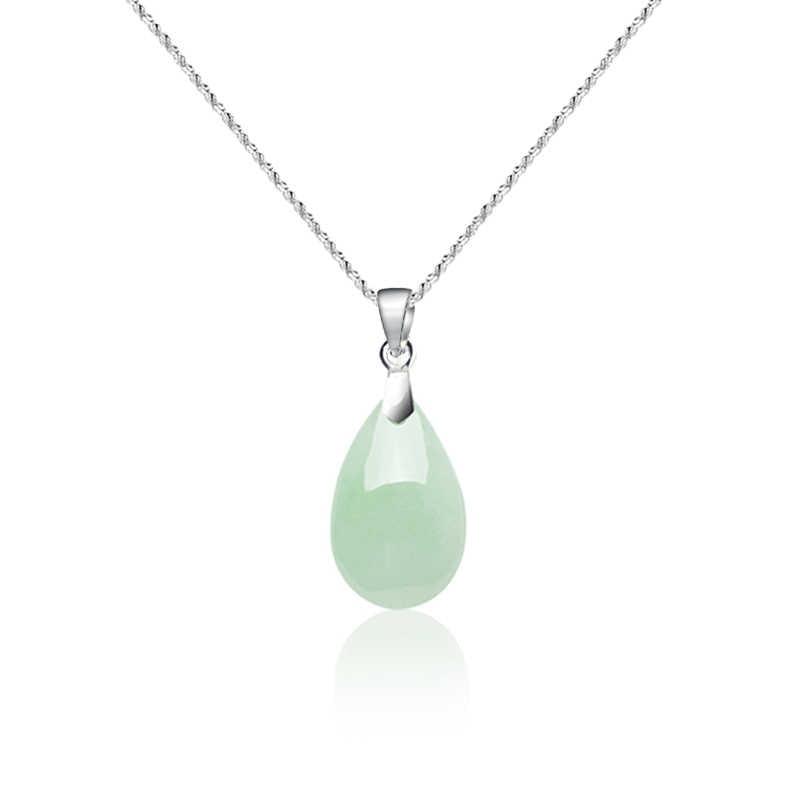 Amuleto de la suerte de Jadeite Esmeralda Natural COLLAR COLGANTE joyería moda accesorios tallados a mano hombre mujer suerte