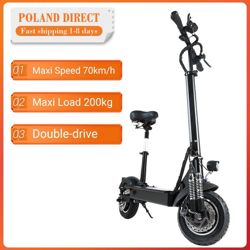 [Directo de la UE] Janobike 2000W Motor Dual 23.4Ah 10 pulgadas Scooter Eléctrico plegable con asiento 70 km/h Velocidad máxima 80km rango de kilometraje