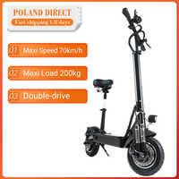 [EU Direct] Janobike 2000W Dual Motor 23.4Ah 10 Inches Folding Electric Scooter with Seat 70km/h Max. Speed 80km Mileage Range