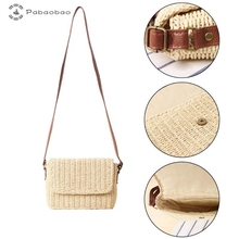 Pabaobao Straw Crossbody Bag for women 2019 Beach Woven Shoulder Messenger Handbag sac a main femme Dropship bolsa