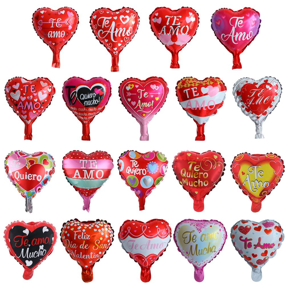 10/30 шт./лот 10-дюймовый испанский TE mo сердце воздушный шар из алюминиевой фольги День рождения Свадьба День Святого Валентина вечерние ринка ...