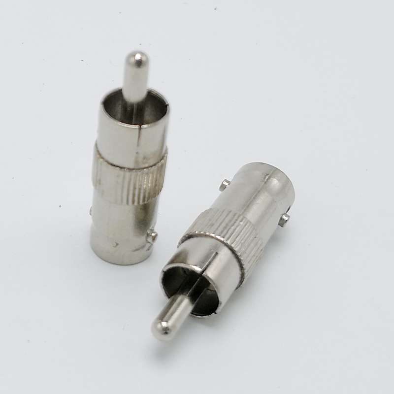 BNC To RCA AV Connector Adaptor BNC Female To RCA Male Connector 50pcs
