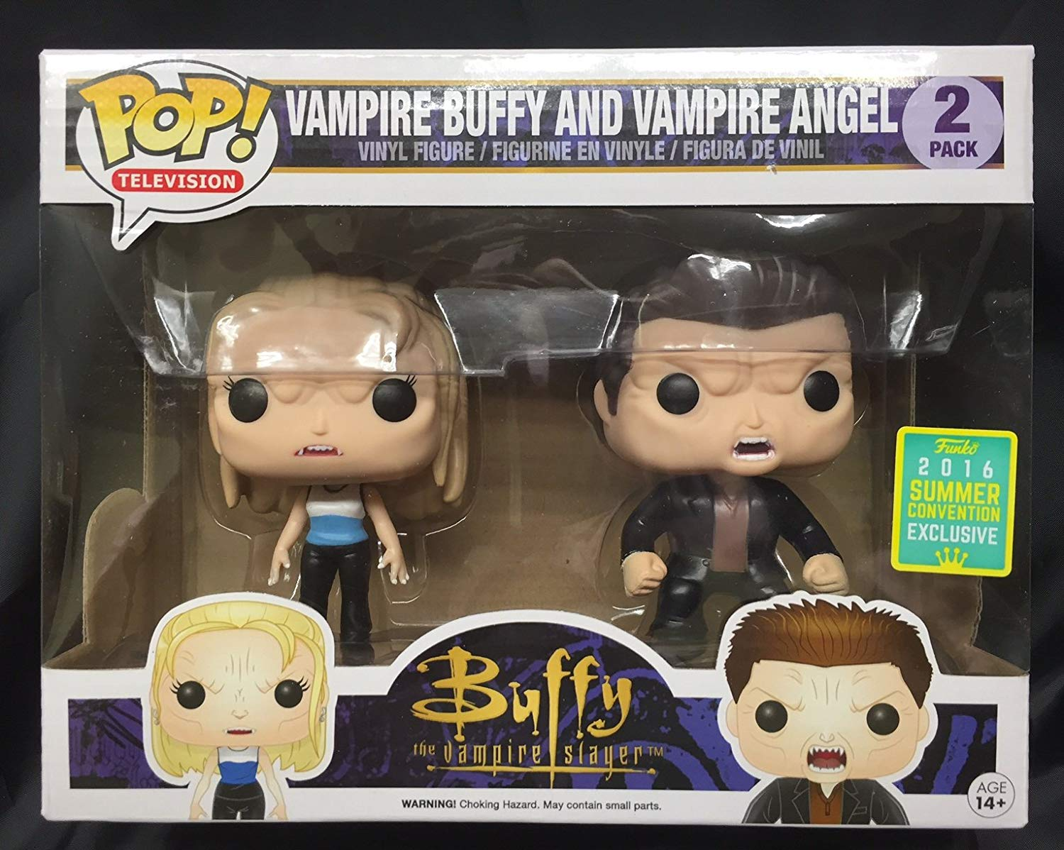 2016 SDCC Exclusive Funko Pop Vampire Buffy And Angel 2 Pack Vinyl Action Figures Collectible Model Toy With Original Box