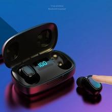 T10S наушники-вкладыши TWS с Беспроводной Bluetooth 5,0 наушники сенсорный Управление наушники спортивные Шум снижение In-ear гарнитуры цифровой Диспл...