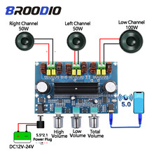 Bluetooth 5.0 TPA3116D2 Digital Power Amplifier Board 2.1 Channel 2*50W + 100W Stereo Power Audio Kelas D Bass Amplifier(China)