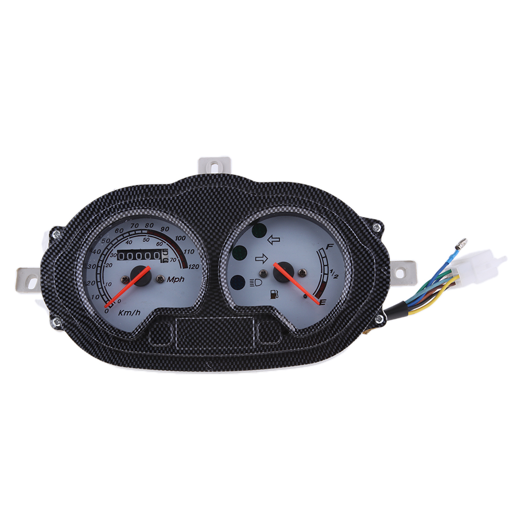 MagiDeal Motorcycle 7 Pins Plug Speedometer Assembly for Yamati RX8 KEEWAY