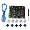 ABHU-3D материнская плата принтера Mks Gen L V1.0 + Tmc2209V2.0x5 ультра-тихий комплект привода