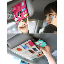 storage bag Car sun visor storage hanging bag car hanging storage bag car sun visor ticket holder edcgear car sun visor hanging zipped storage bag pouch black