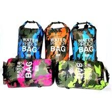 Водонепроницаемый плавание сумка сухой мешок камуфляж рыбная ловля, Гребля на байдарках, дрейфующих рафтинг мешок 2L-30л река треккинг сумка