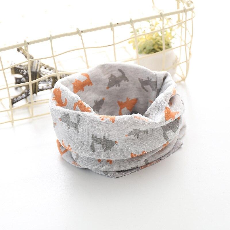 Корейский хлопковый детский шарф, снуд с рисунком, клетчатые шарфы с кольцами для девочек, зимний теплый снуд для мальчиков, детский снуд - Цвет: 33