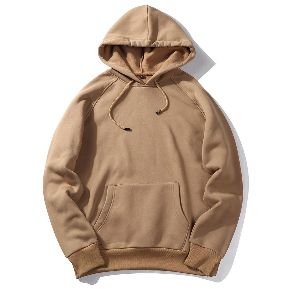2020 Brown Winter Men Hoodies Sweatshirt / Men Hip Hop Casual Cotton Tracksuit Sweat Hoodies