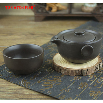 Ceramica Tè nero set Include 1 Pentola 1 Tazza, teiera di Viaggio elegante gaiwan, bello e facile teiera bollitore, kung fu teaset