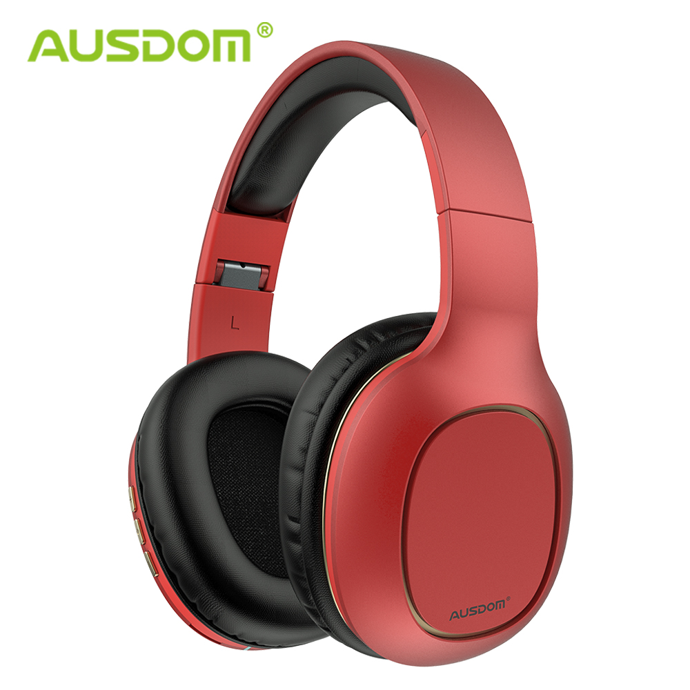 AUSDOM M09 Newest Wireless Headphones Over-Ear Stereo With MIC Support TF Card Bluetooth Headphones For Music Phone Headset