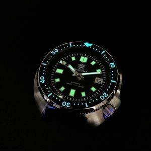 Image 2 - Стальные dive Pro Diver часы 200 м водонепроницаемые NH35 автоматические часы мужские сапфировые Кристаллы из нержавеющей стали роскошные механические часы для дайвинга
