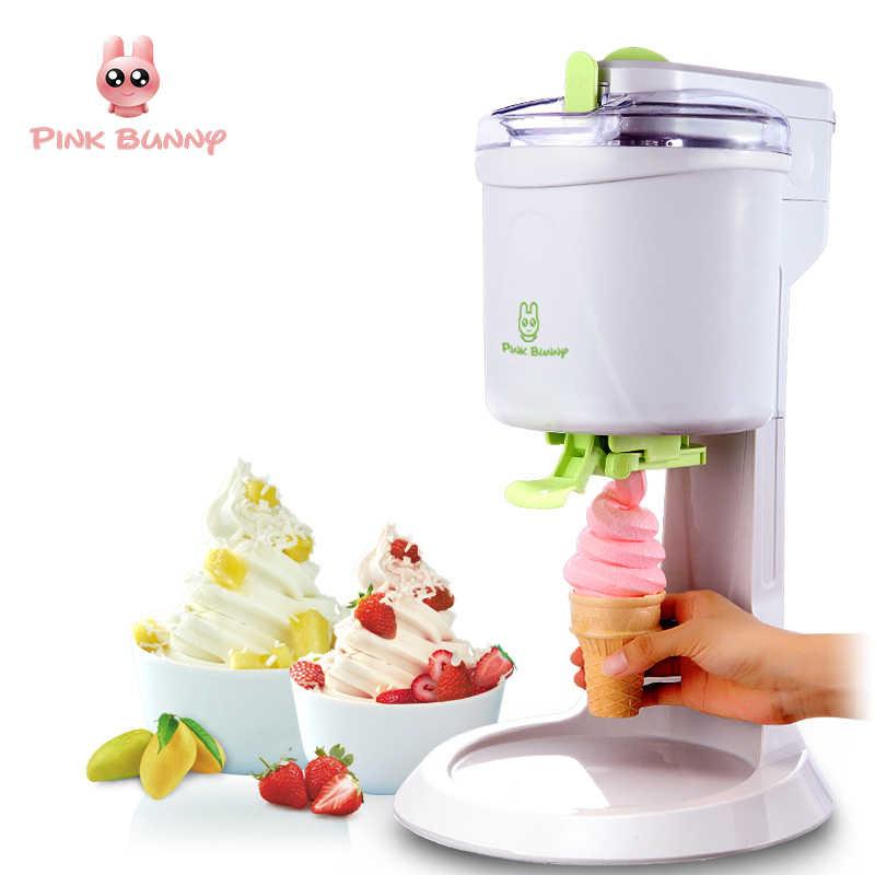 Mesin Es Krim Sepenuhnya Otomatis Mini Fruit Ice Cream Maker untuk Listrik Rumah DIY Kuno Pembuat Es Krim