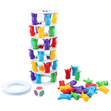 Penguin Tower Collapse Balance Game Children Toy Party Family Block Challenge Toys Penguin Crash Tower Thrill Challenge Toy