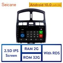 Seicane רכב GPS מולטימדיה נגן רדיו עבור 2005 2006 2015 יונדאי קלאסי סנטה Fe 9 אינץ אנדרואיד 10.0 2Din 2GB RAM ראש יחידה