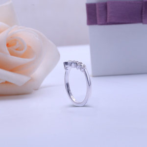 Image 3 - Transgems 10K White Gold Center Marquise Shape Round F Colorless Moissanite Crown Engagement Ring Wedding Band
