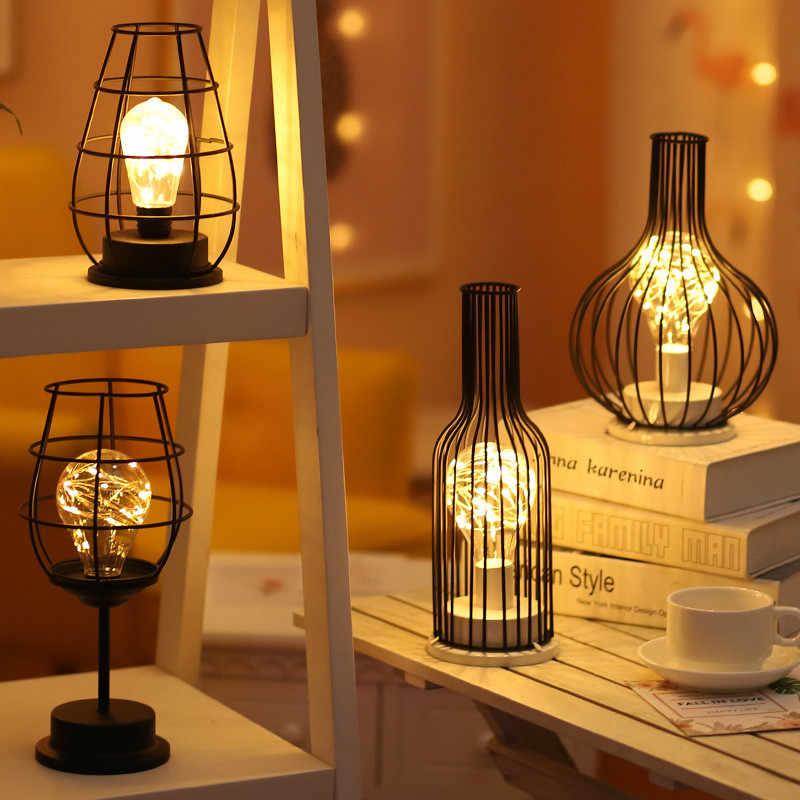 חלול החוצה יין בקבוק צורת LED מנורת שתיית זכוכית אור עבור קפה מלון מרפסת
