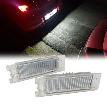 18-SMD LED License Plate Light Lamps for OPEL VAUXHALL Adam Astra H Astra J Astra K Cascada Corsa C Corsa D Corsa E Insignia A фото