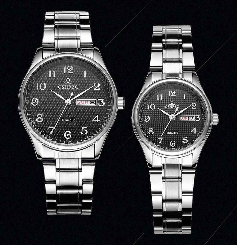 Top Brand Luxury Lover Watch Pair Waterproof Men Women Couples Watches Quartz Wristwatch Male Female Bracelet Relogio Masculino