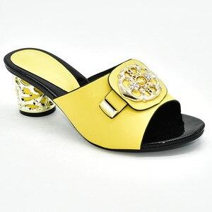 Image 4 - Zapatos de tacón alto para verano con plataforma para mujer, zapatos de tacón alto Sexy, italianos, de alta calidad, estilo africano, 2020