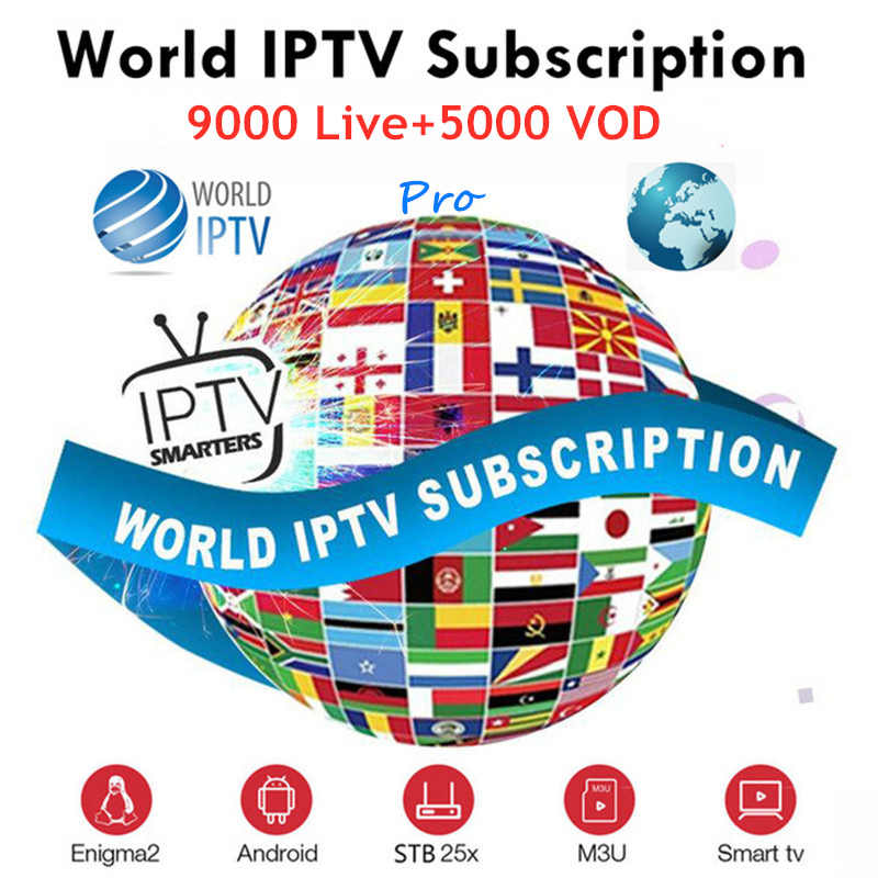 France Europe IPTV Subscription UK German Arabic Dutch Sweden French Poland Portugal Smart TV IPTV M3U 9000 Live 1 year