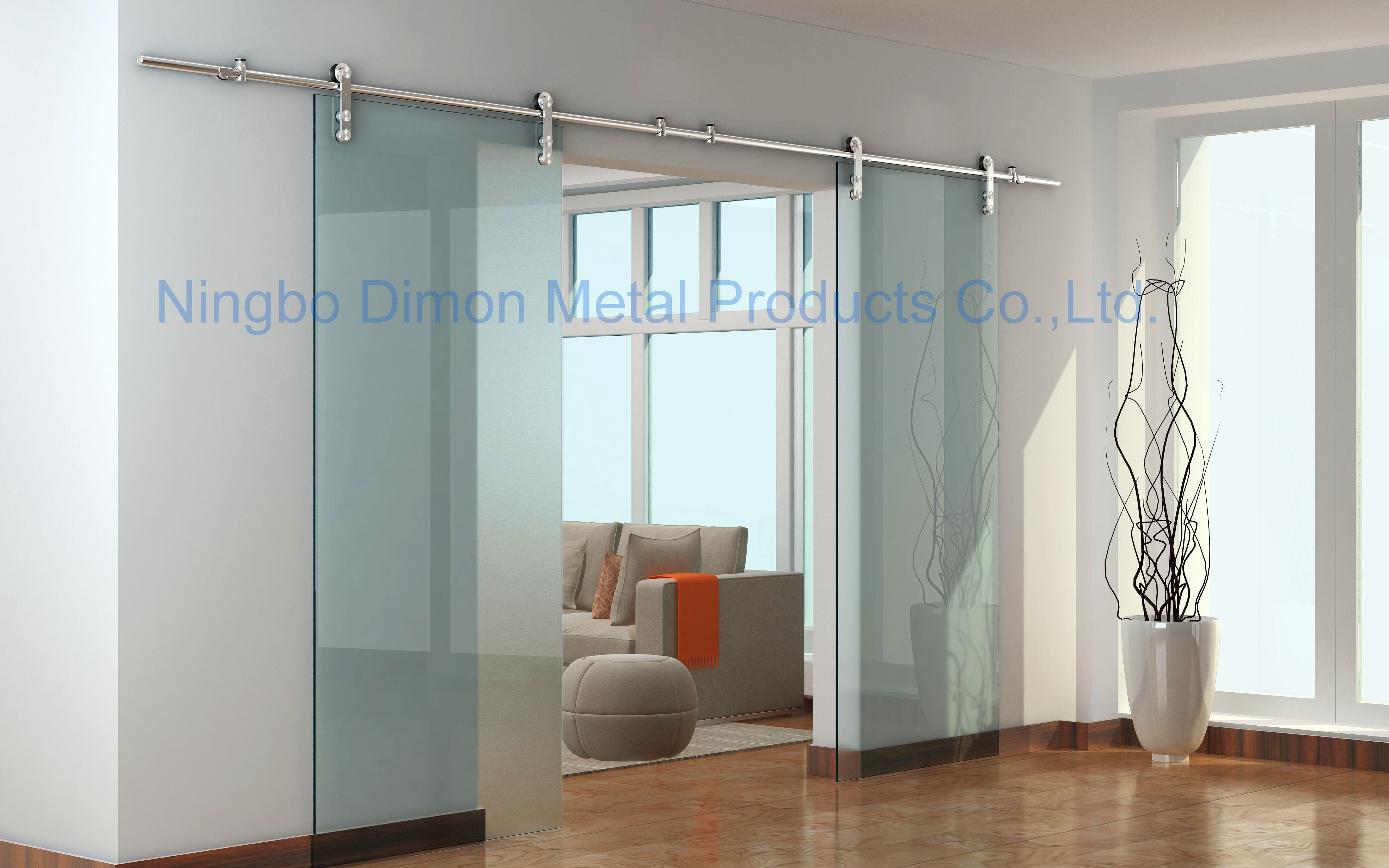 Dimon Stainless steel 304 door hardware glass sliding door hardware sliding door hardware DM-SDG 7002 without sliding track