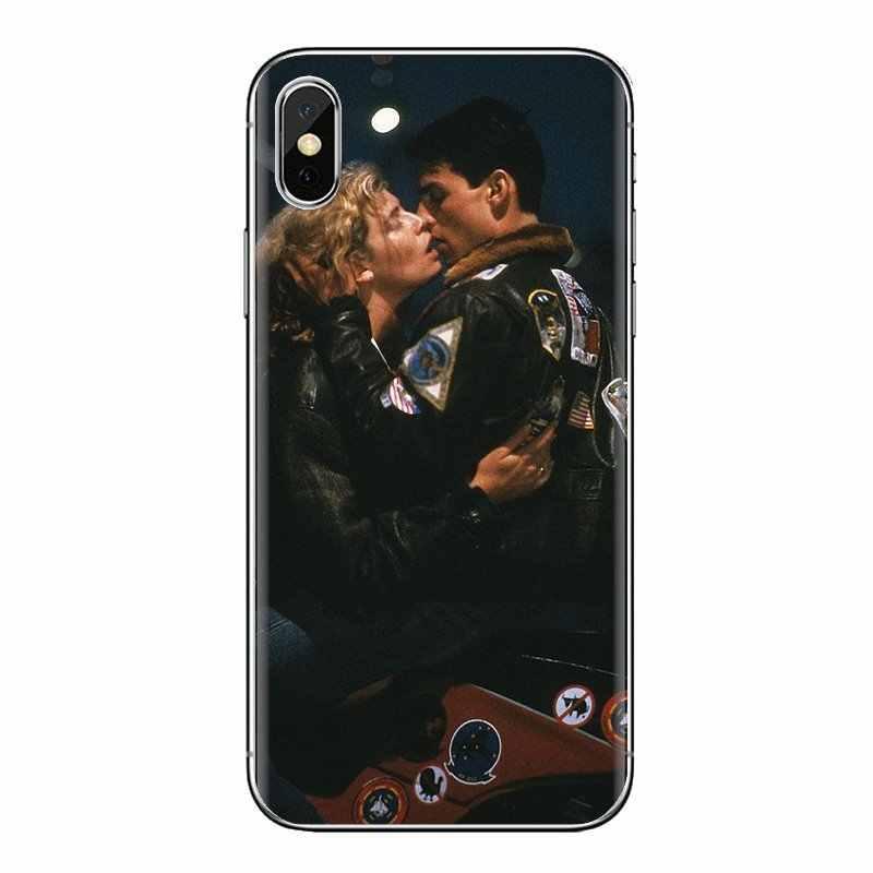 כיסוי עבור iPhone XS Max XR X 4 4S 5 5S 5C SE 6 6S 7 8 בתוספת Samsung גלקסי J1 J3 J5 J7 A3 A5 למעלה אקדח 1987 טום קרוז פוסטר סרט