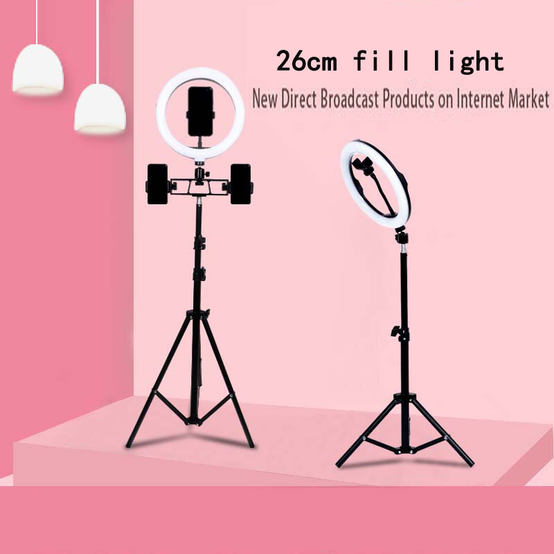 Live-Fill-Light Tripod Dimmable-Lamp Makeup Selfie-Stand Photo-Video-Camera LED Vlog