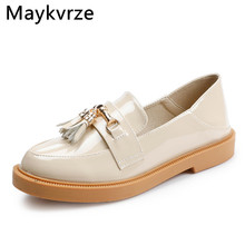British style women's shoes Korean version black Small leather shoes simple wild flats women 2020 spring autumn new casual shoes цена 2017