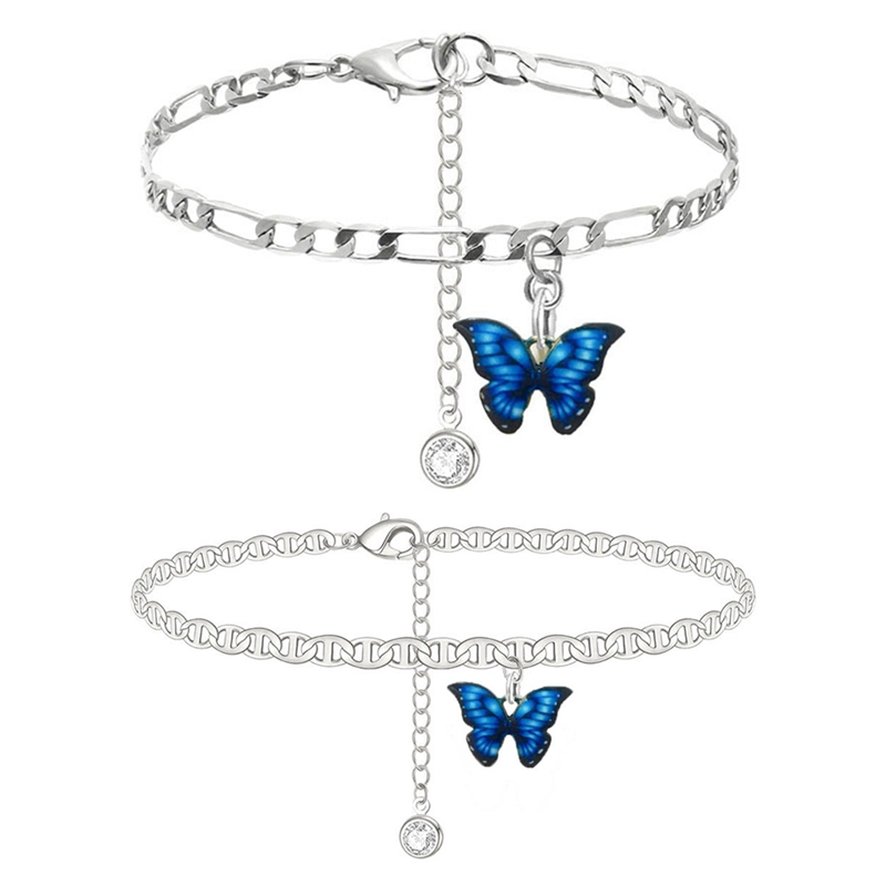 Butterfly Ankle Bracelet Anklet Bracelets Summer Barefoot Beach Accessories Leg Bracelet For Women Bohemian Foot Jewelry Ankle