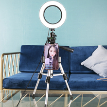 16cm Dimmable LED Ring Lamp Photography Light  with Tripod Stand Phone Photography Kits for Photo Video Selfie Makeup Fill Light
