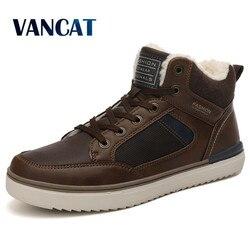 2019 novo inverno botas de alta qualidade de pelúcia quente botas de tornozelo botas de neve de pele à prova dwaterproof água sapatos masculinos sapatilhas quentes botas tamanho 39-46