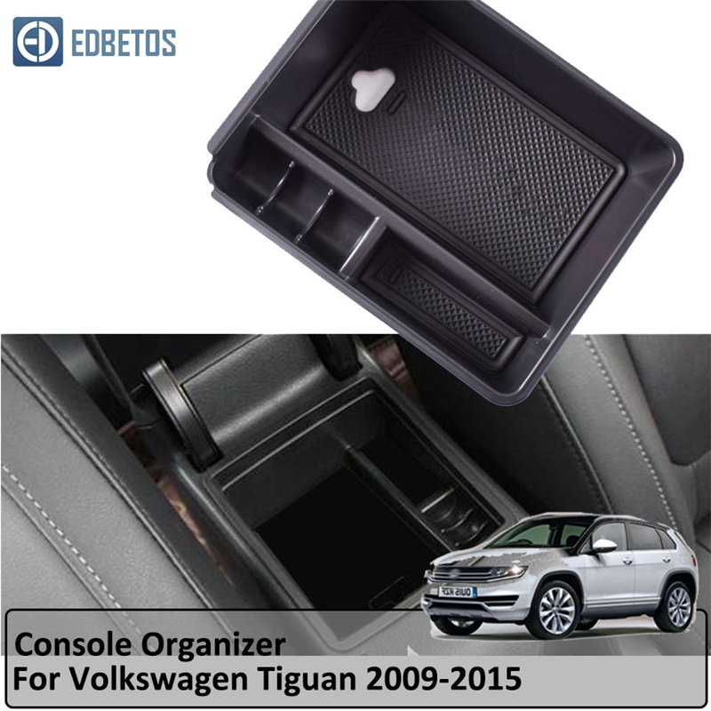 White LFOTPP Central Control Armrest Storage Box for T-Roc