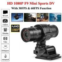 Câmera f9 full hd 1080p para mountain bike, bicicleta, motocicleta, esportes, câmera de ação, vídeo dv, gravador de vídeo