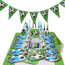 Football Theme birthday party Disposable Party Tableware Set Paper Cups plates decorations kids supplies