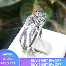luxury 1.0ct lab diamond original 925 sterling silver weddin