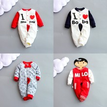 2019 Baby Clothes Newborn Long-sleeved Jumpsuit Autumn Printing Cotton Romper