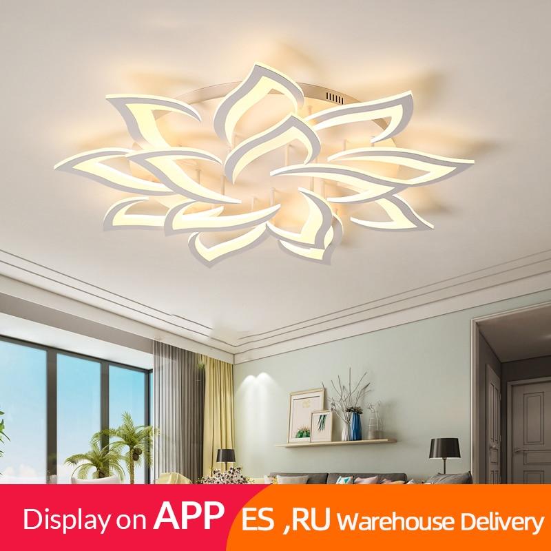 IRALAN Lustre Led Ceiling Chandelier Modern Luxury Lotus For Living/dining Room Kitchen Bedroom Lamp Art Deco Lighting Fixtures