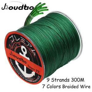 Jioudao X9 300M Braided Fishing Line 9 Strands MultiColor Multifilament Saltwater PE Line 20 45 60 85 110 150 200LB