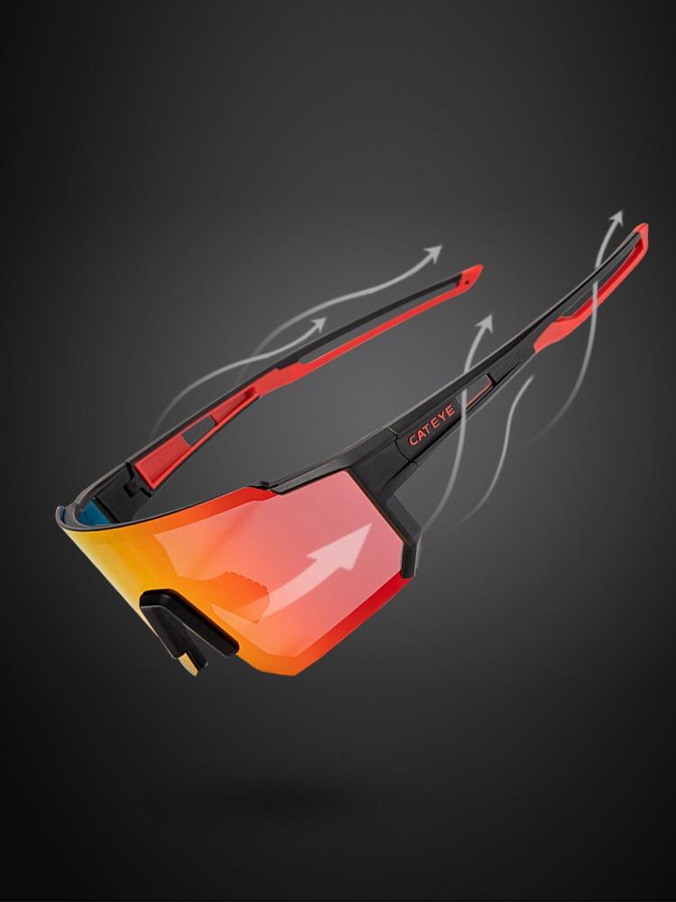 Photochromic Polarized Glasses Bicycle Cycling-Glasses Myopic-Lens CATEYE Hiking Sport