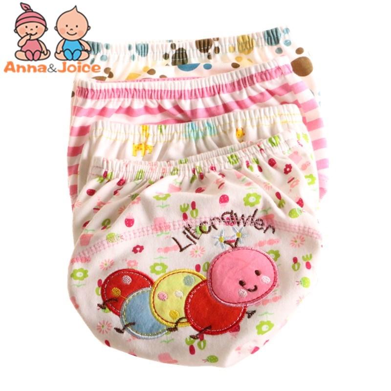 30Pcs/Lot  Baby Training Pant Cartoon Underwear Cotton Learning/Study Infant Pants Size 100 Suit 13--16kg