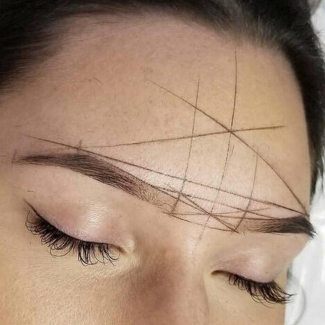 Microblading Mapping String Pre-inked Eyebrow Marker Line Eyebrow Line Thread Positioning Tattoo Kit Eyebrow N3U8 4