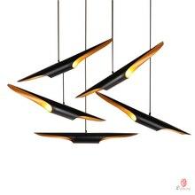 Nowoczesna lampa wisząca LED Loft projektant długa oprawa oświetleniowa aluminium czarny złoty wisiorek światło jadalnia Foyer Home dekoracyjne